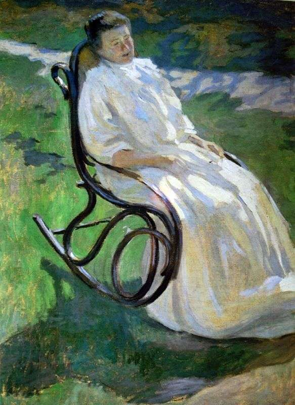 The lady in the rocking chair by Victor Borisov Musatov