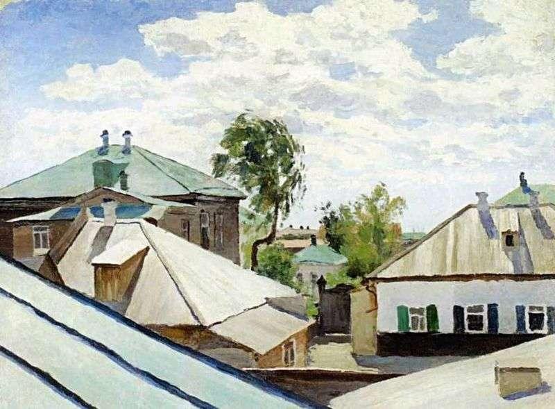 Roofs by Victor Elpidiforovich Borisov Musatov