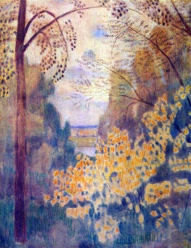 Hazel bush by Victor Borisov Musatov