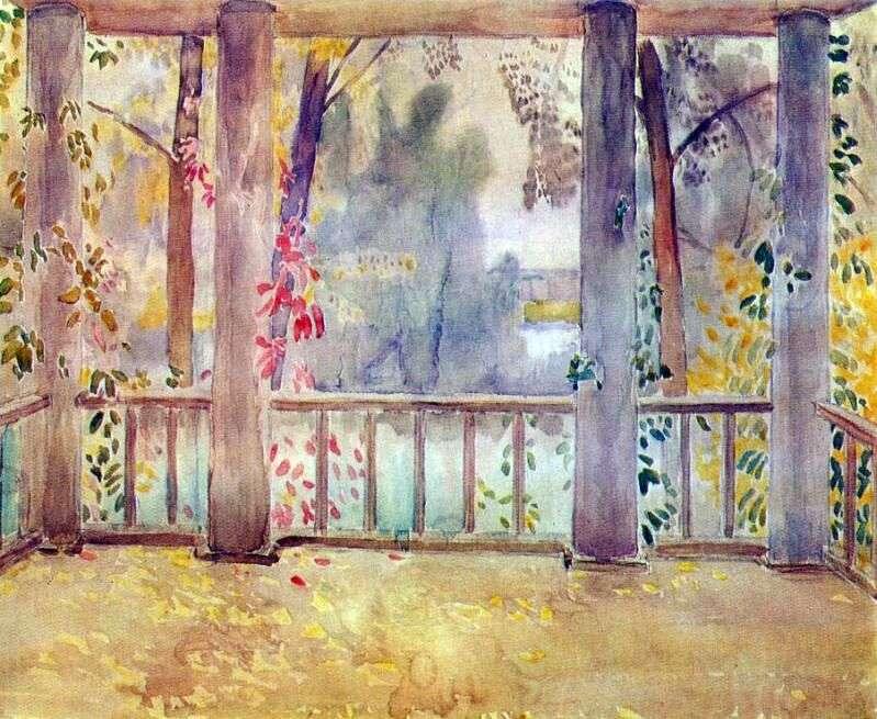 On the balcony in Tarusa by Victor Borisov Musatov