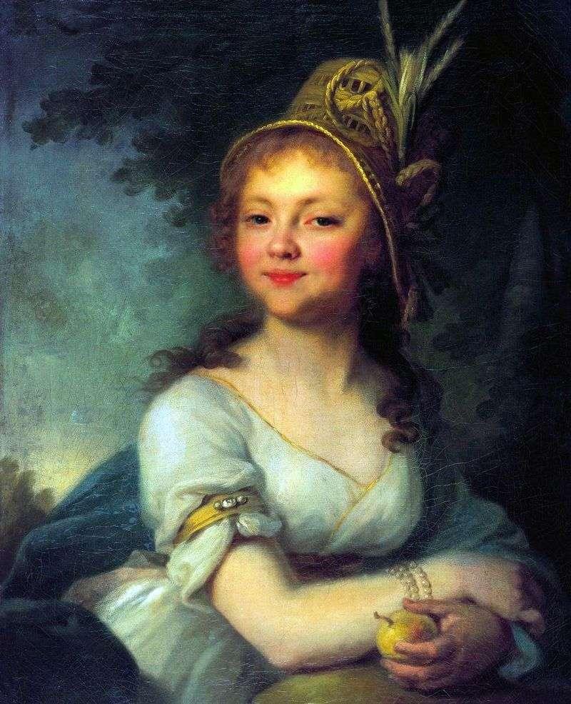 Portrait of E. N. Arsenieva by Vladimir Borovikovsky
