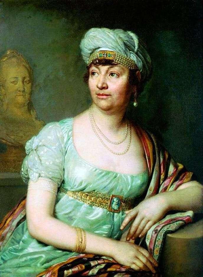 Portrait of Louise Germain de Stael by Vladimir Borovikovsky