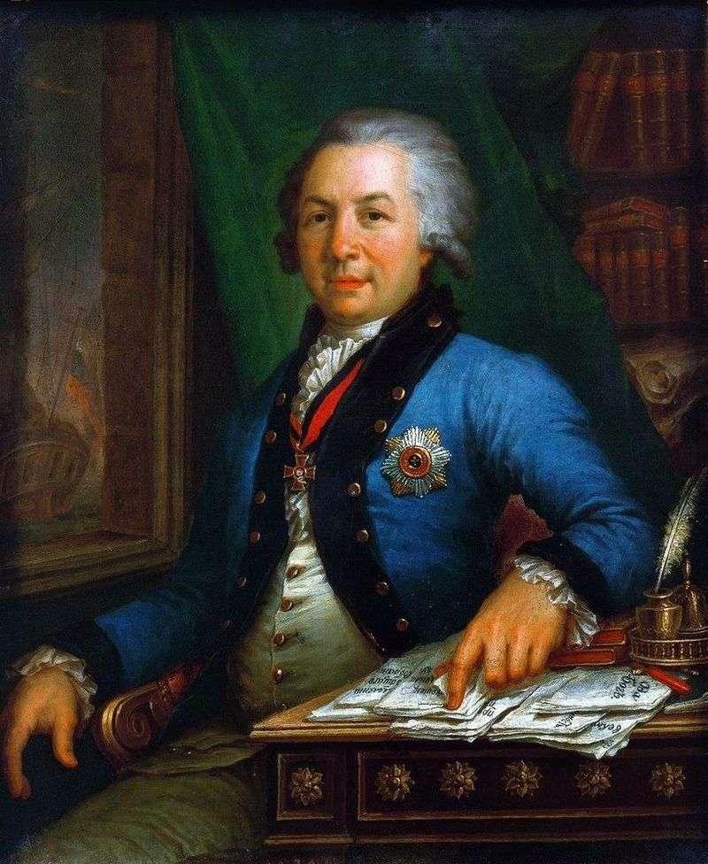 Portrait of the poet GR Derzhavin 1795 by Vladimir Borovikovsky