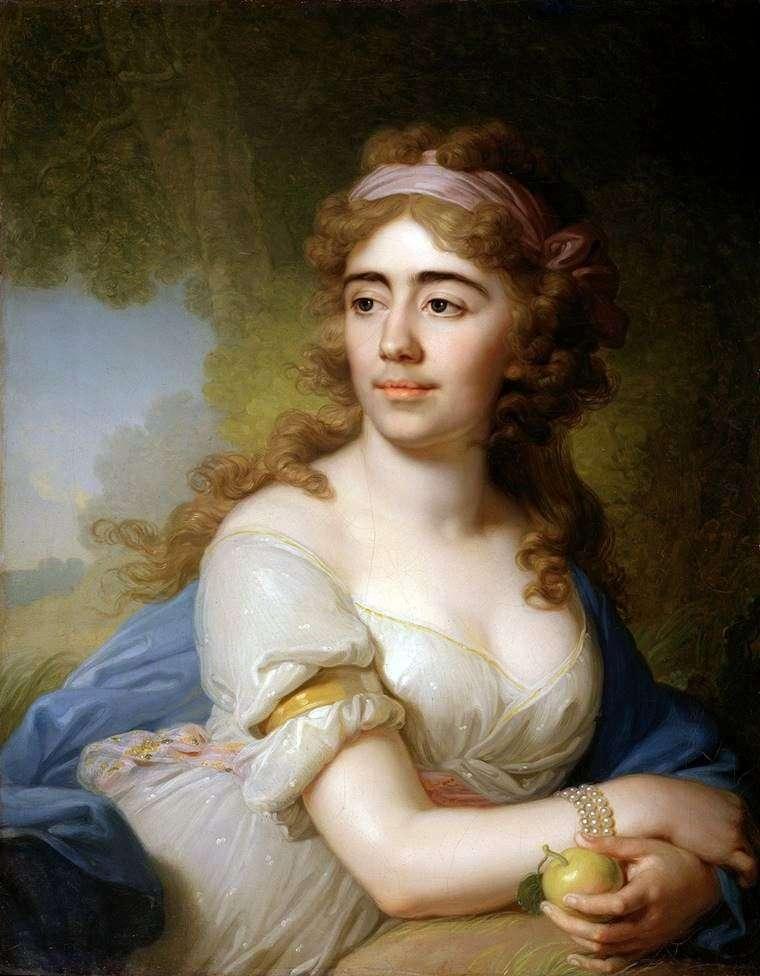Portrait of Skobeeva by Vladimir Borovikovsky