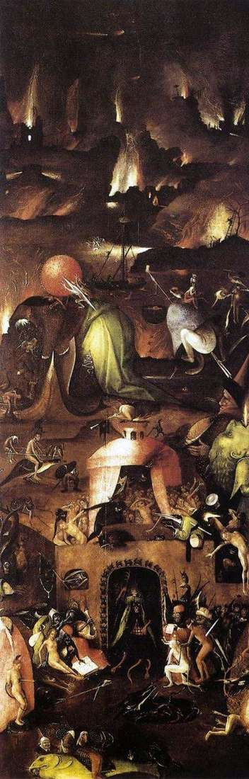 Hell. The right shutter of the altar The Last Judgment by Hieronymus Bosch
