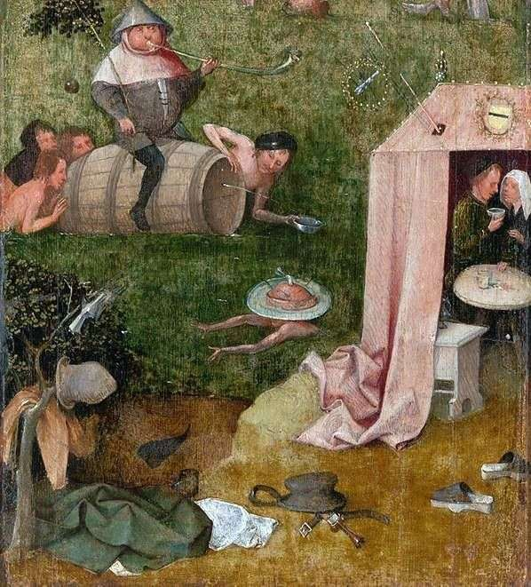 Allegory of gluttony and lasciviousness by Hieronymus Bosch