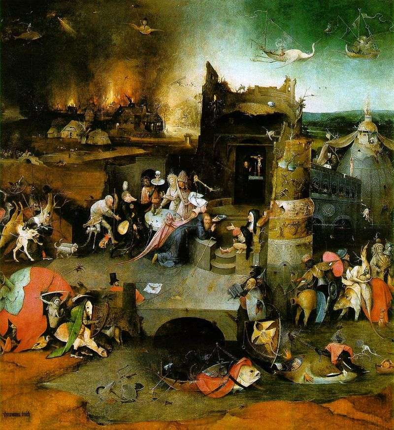 The altar of St. Anthony. The central part of the triptych is Hieronymus Bosch