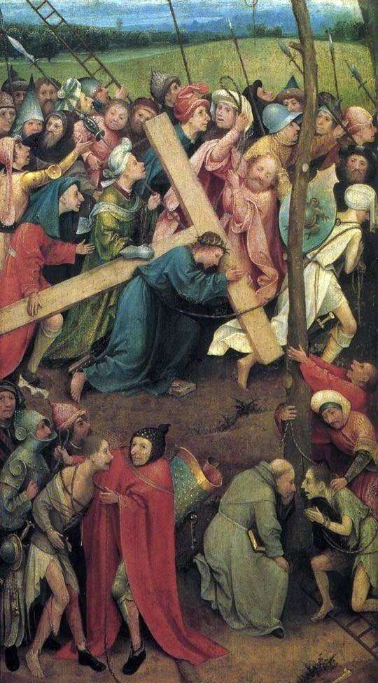 Carrying the Cross on Calvary by Hieronymus Bosch
