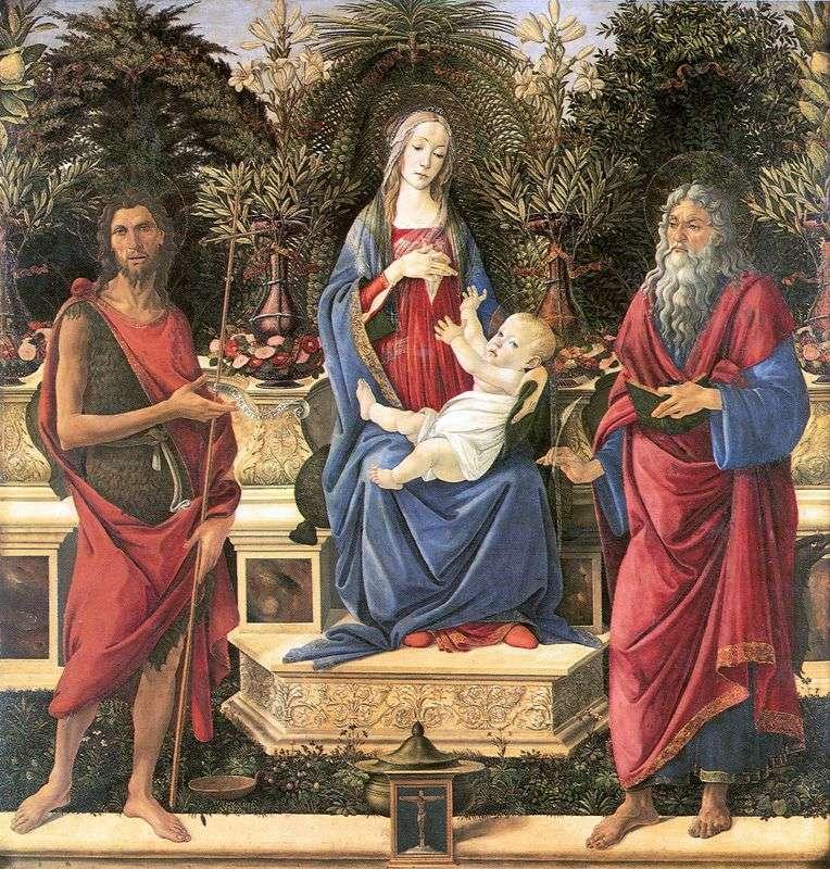 Altar of Bardi by Sandro Botticelli
