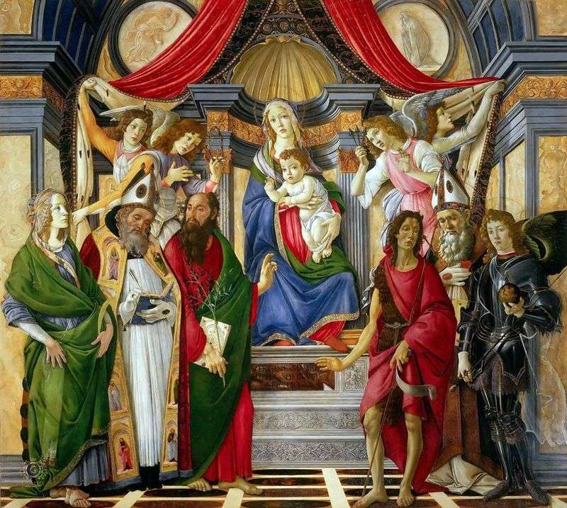 The Altar of St. Barnaby by Sandro Botticelli