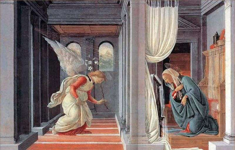 Annunciation by Sandro Botticelli