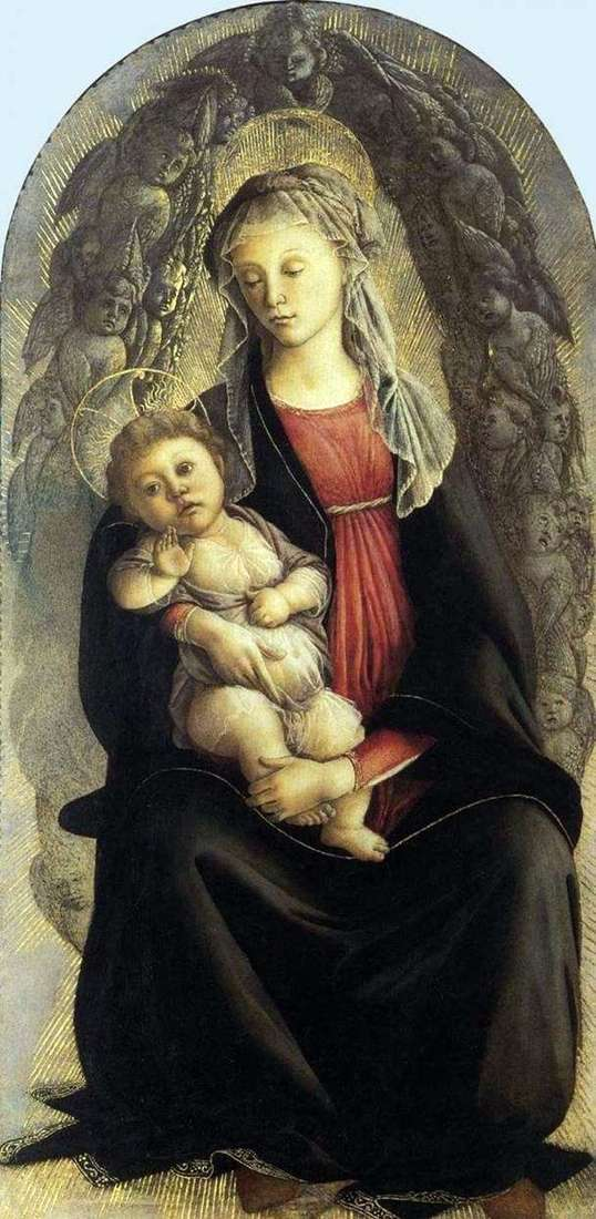 Madonna in glory by Sandro Botticelli