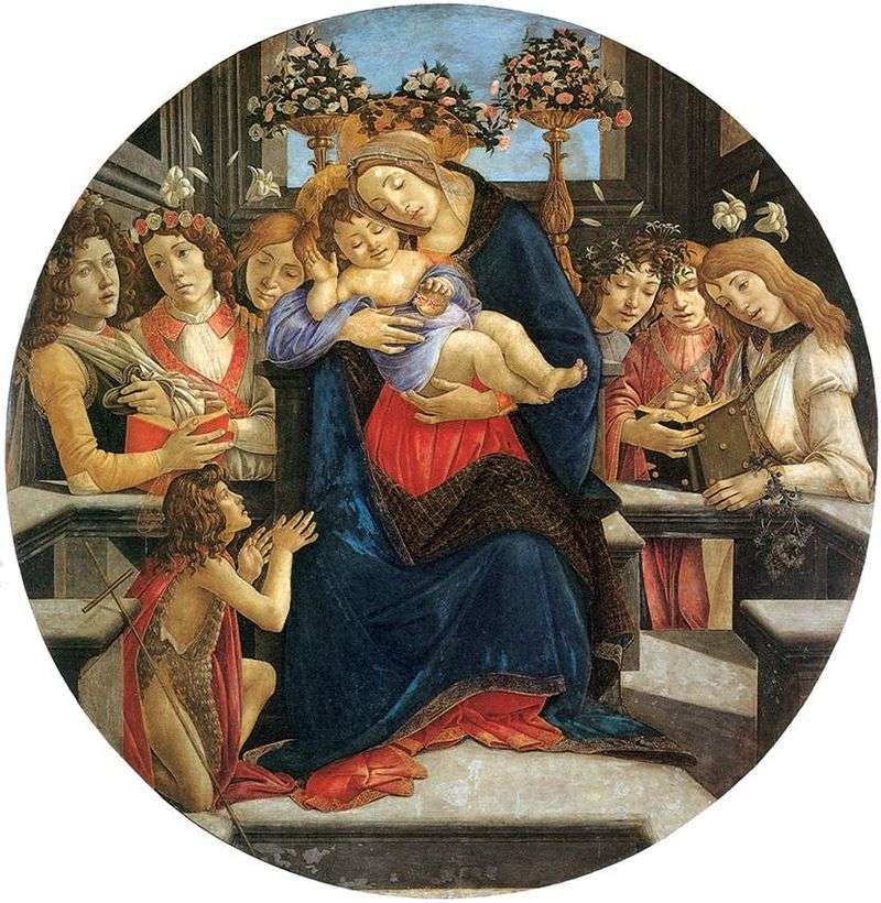 Madonna with Child, Angels and Saint John the Baptist by Sandro Botticelli