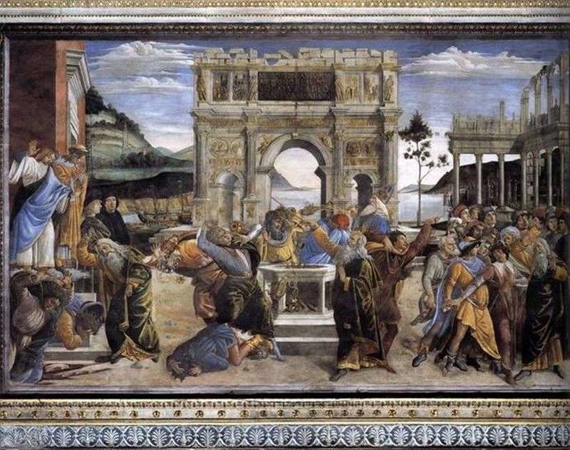Punishment of Korea Dafan and Abiron by Sandro Botticelli