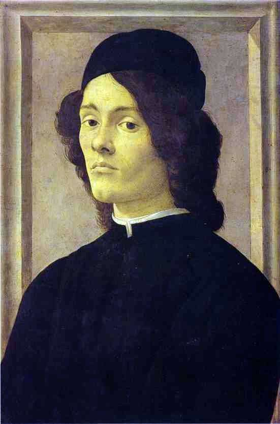Male portrait by Sandro Botticelli