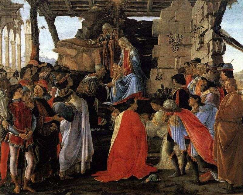 Adoration of the Magi. The altar of Zanobi by Sandro Botticelli