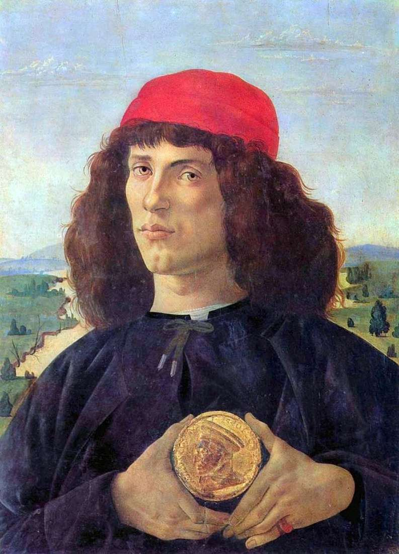 Portrait of a man with a medal by Sandro Botticelli
