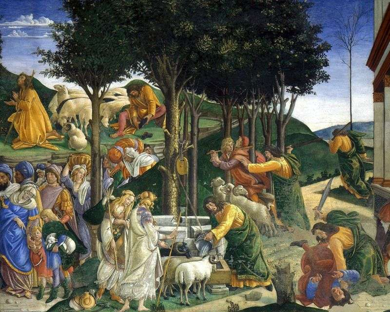The Calling and Testing of Moses by Sandro Botticelli