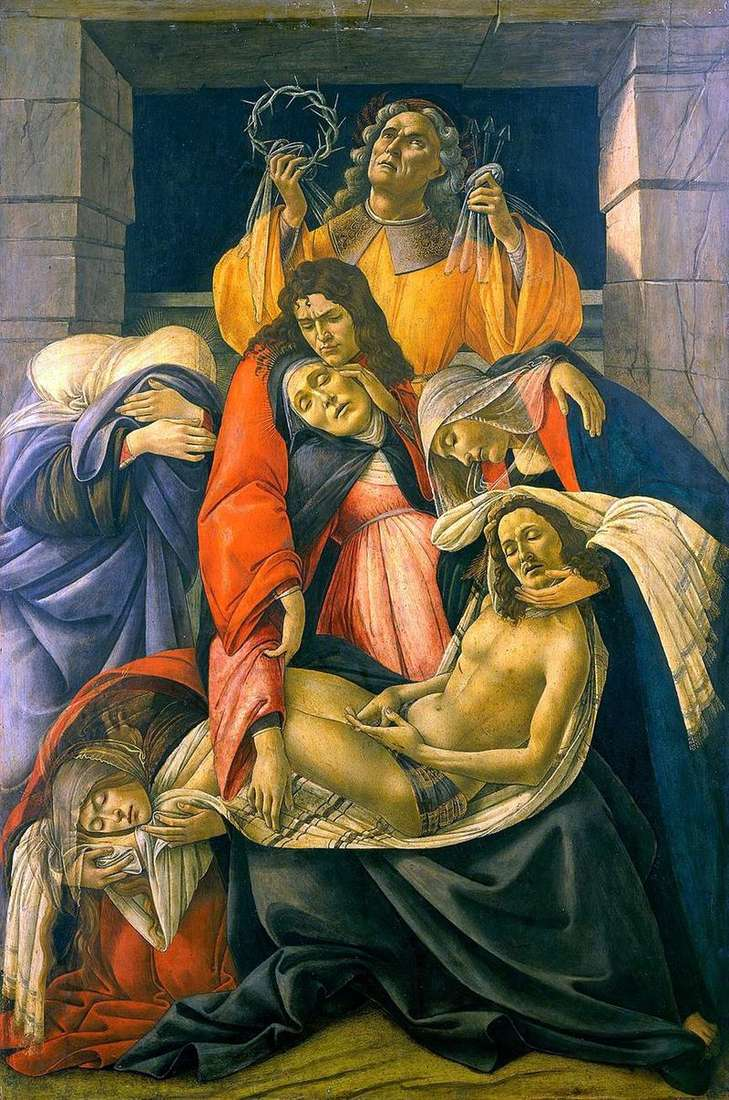 Pieta (Lamentation) by Sandro Botticelli