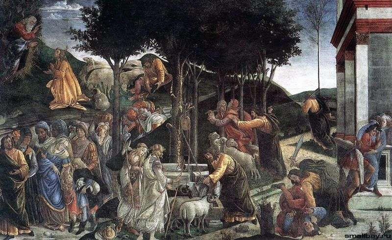 Scenes from the life of Moses (fresco) by Sandro Botticelli