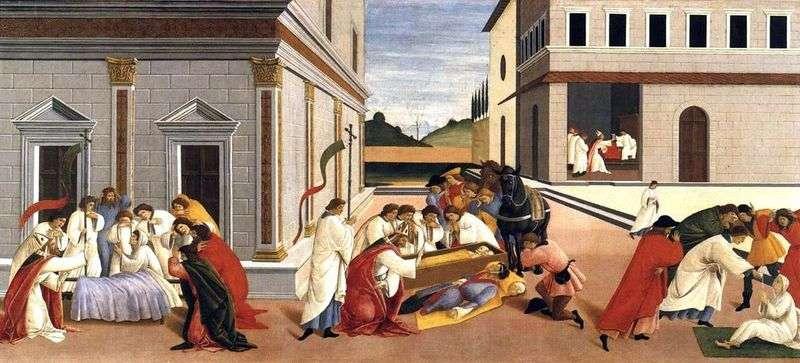 Three miracles of Saint Zinovy by Sandro Botticelli