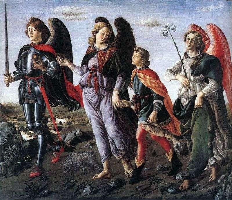 Three Archangels with Tobias by Francesco Botticini