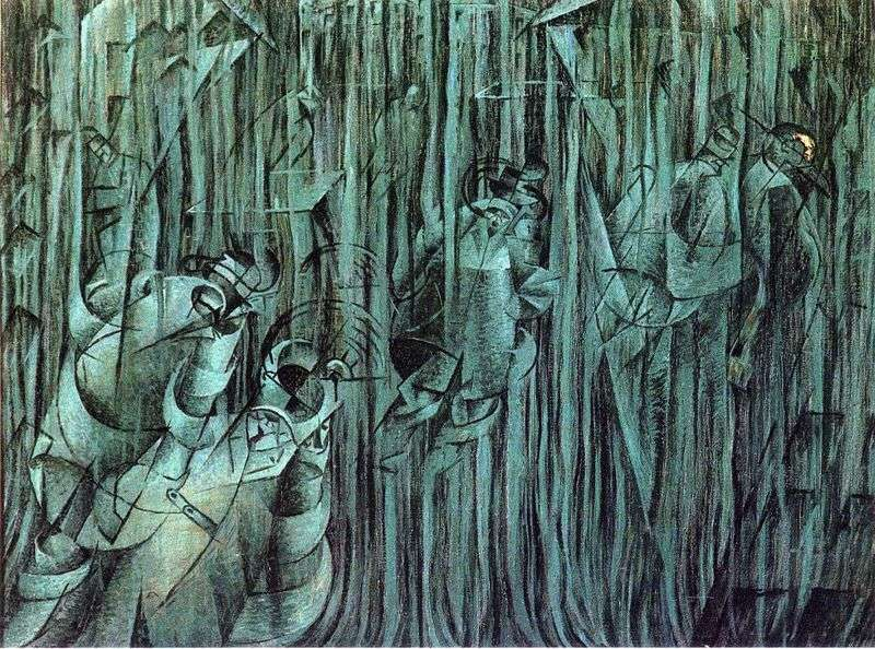 State of mind by Umberto Boccioni