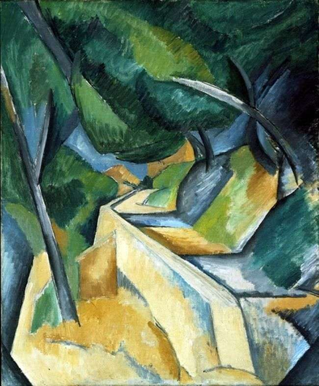 The road near Estaca by Georges Braque