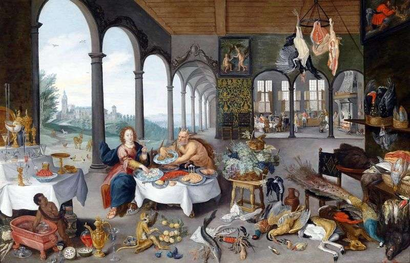 Allegory of taste by Peter Brueghel