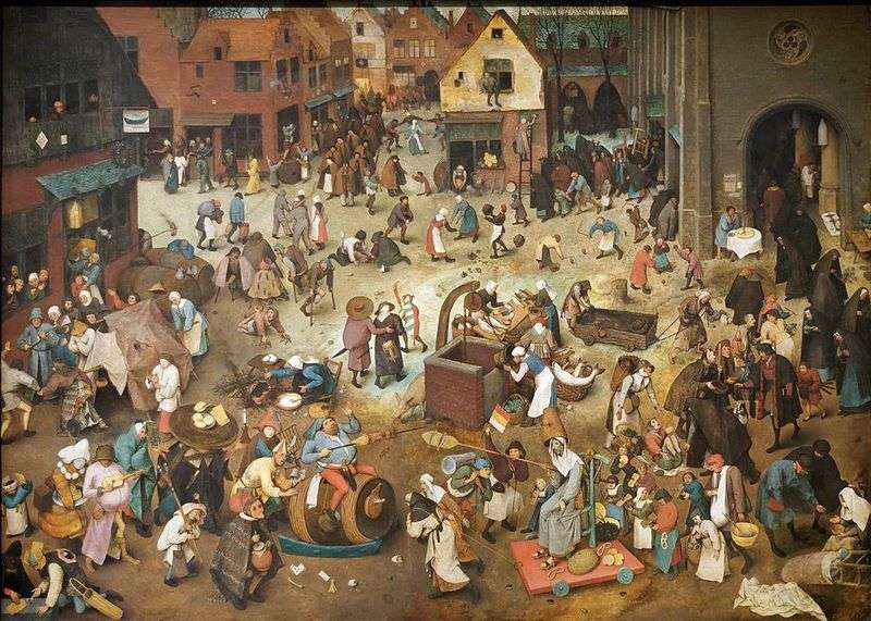 The Battle of the Carnival and Fasting by Peter Brueghel