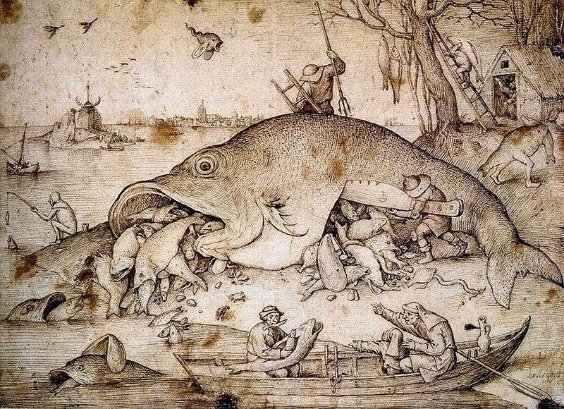 Big fish eat small by Peter Brueghel