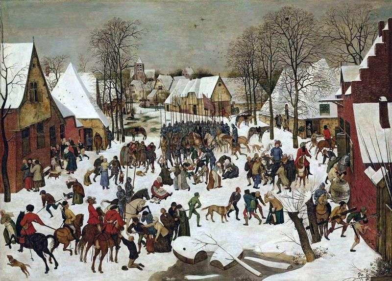 Beating babies in Bethlehem by Peter Brueghel