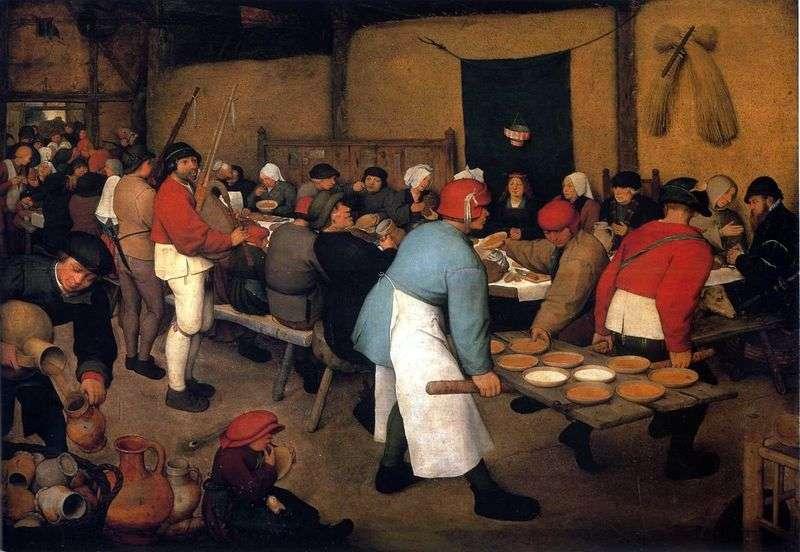 Peasant Wedding by Peter Brueghel