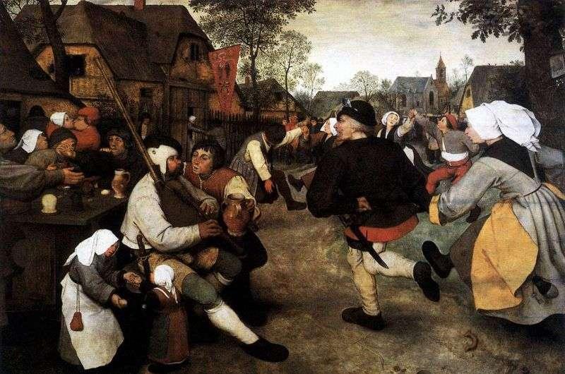 Peasant Dance by Peter Brueghel