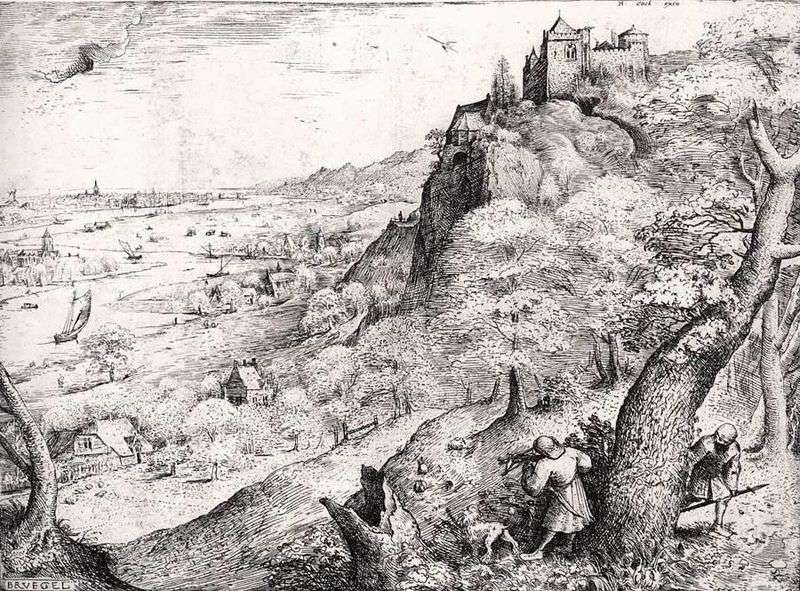Hunt for a hare by Peter Brueghel