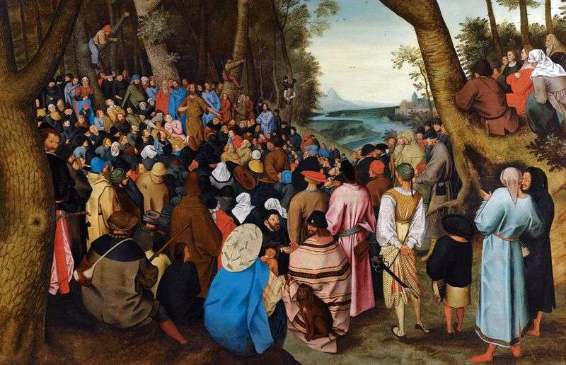 The preaching of John the Baptist by Peter Brueghel