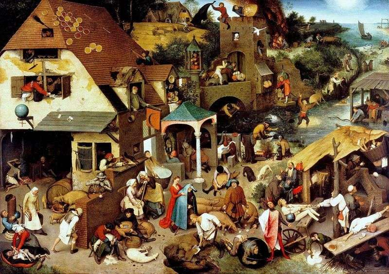 Flemish proverbs by Peter Brueghel
