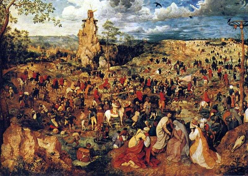 Procession to Calvary by Peter Brueghel