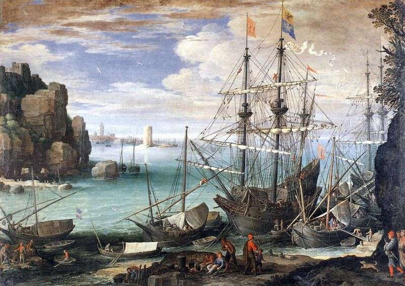 View of the port by Paul Bril