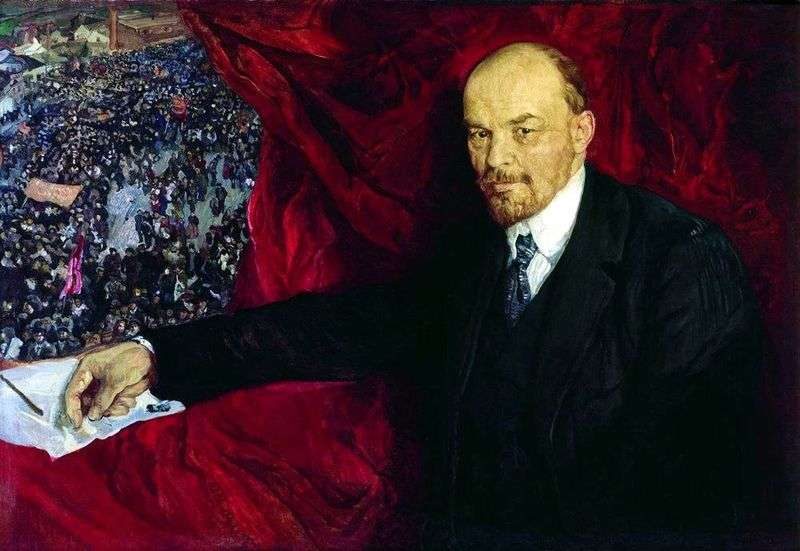 Lenin and the manifestation by Isaak Brodsky