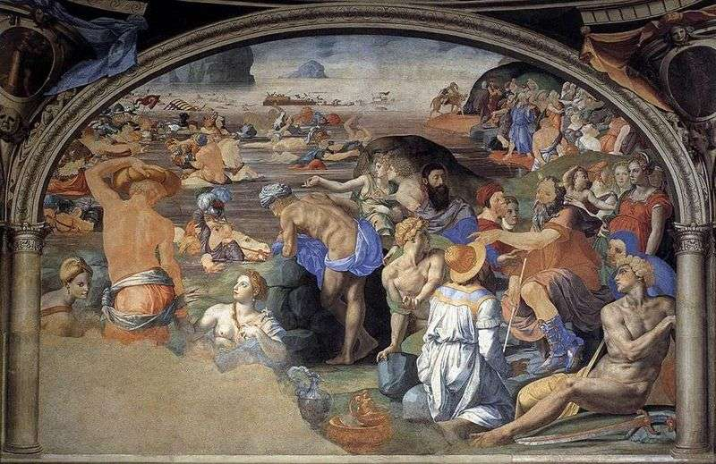 Crossing the Red Sea by Anolo Bronzino
