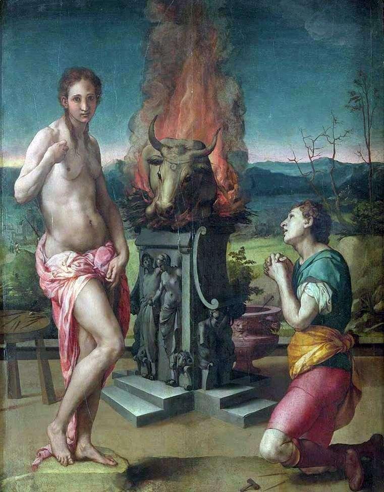 Pygmalion and Galatea by Agnolo Bronzino