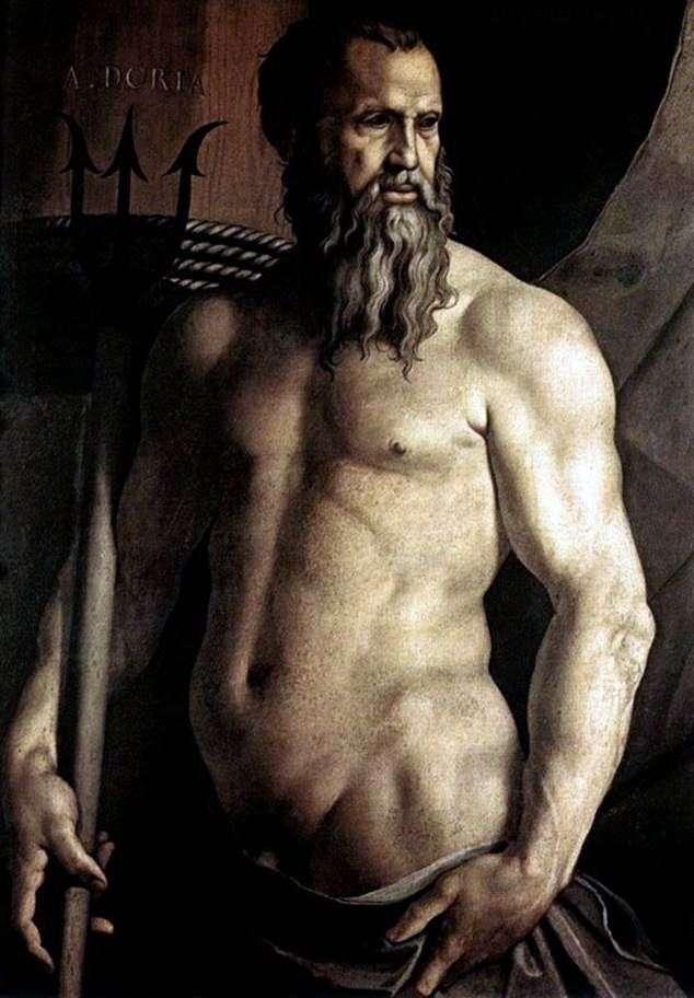 Portrait of Andrea Doria in the form of Neptune by Agnolo Bronzino