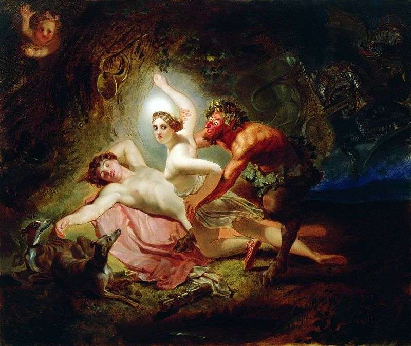 Diana, Endymon and Satyr by Karl Bryullov