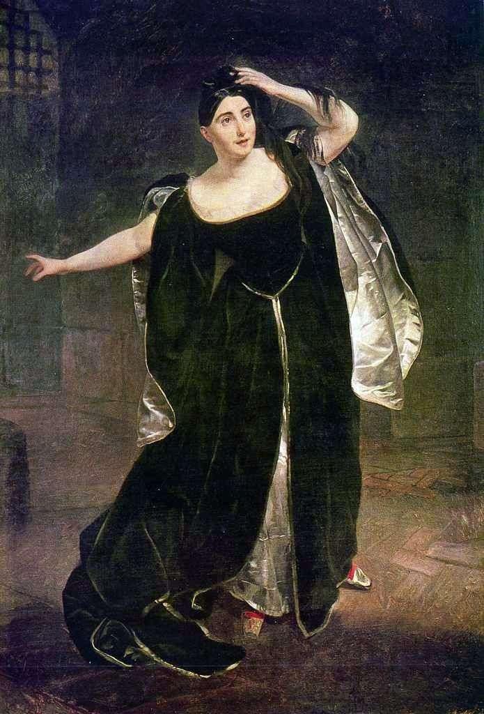 Portrait of Giuditta Pasta by Karl Bryullov