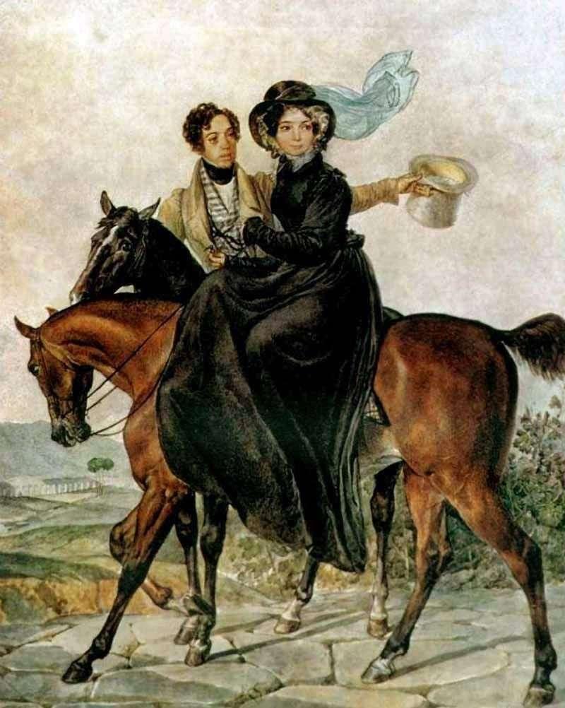 Portrait of K. A. and M. Ya. Naryshkin by Karl Bryullov