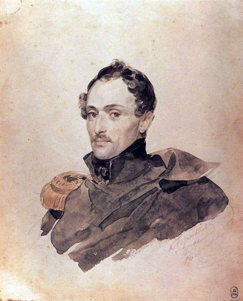 Portrait of Captain B. Kostetskiy by Karl Bryullov