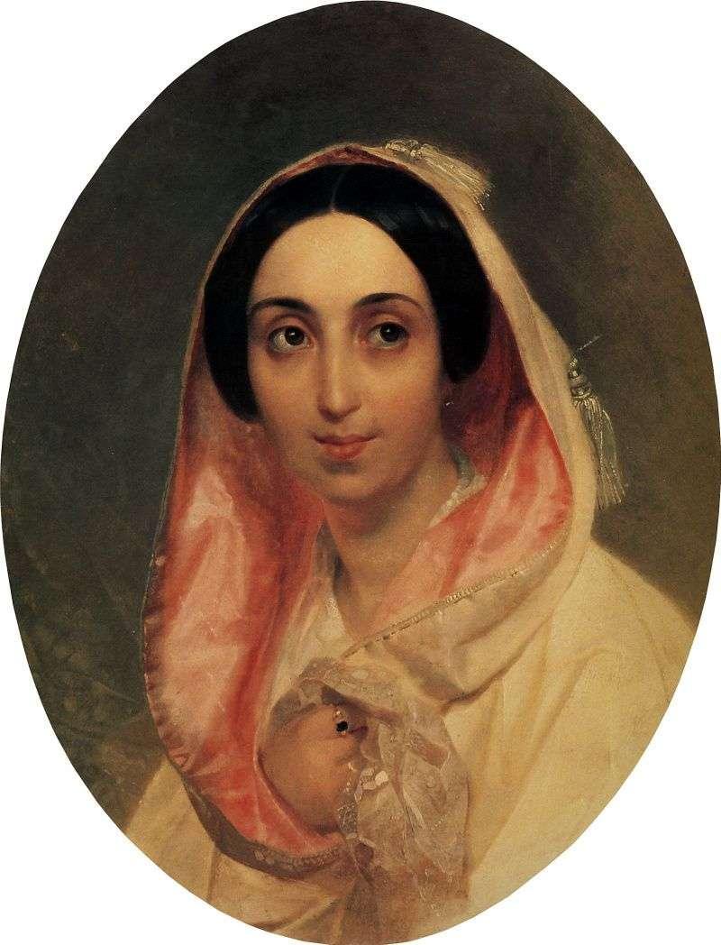 Portrait of Princess AA Bagration by Karl Bryullov