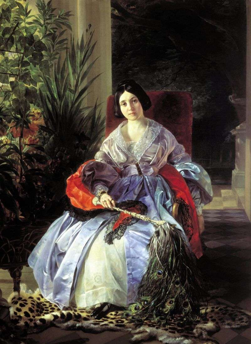Portrait of Princess EP Saltykova by Karl Bryullov