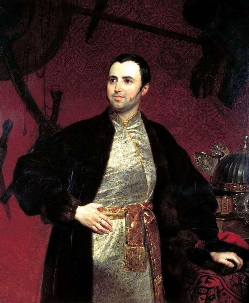 Portrait of Prince MA Obolensky by Karl Bryullov